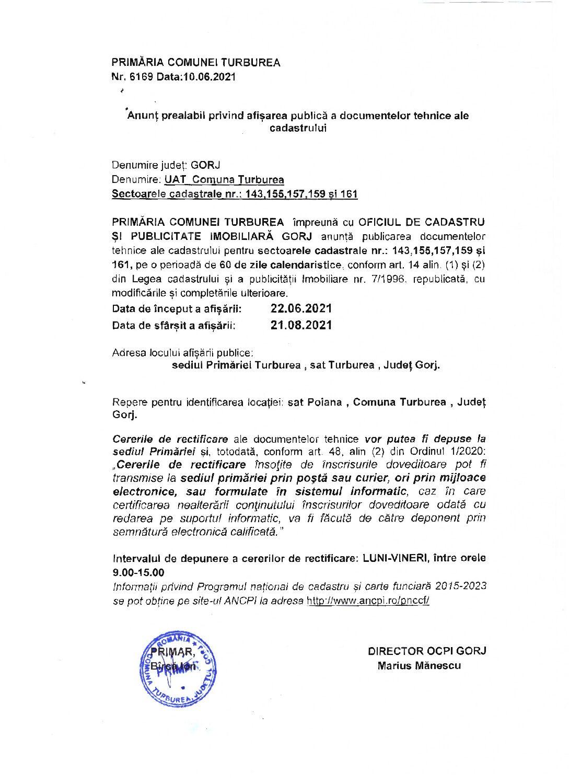 Documente tehnice ale cadastrului (opis, planuri cadastrale, registrul cadastral al imobilelor)